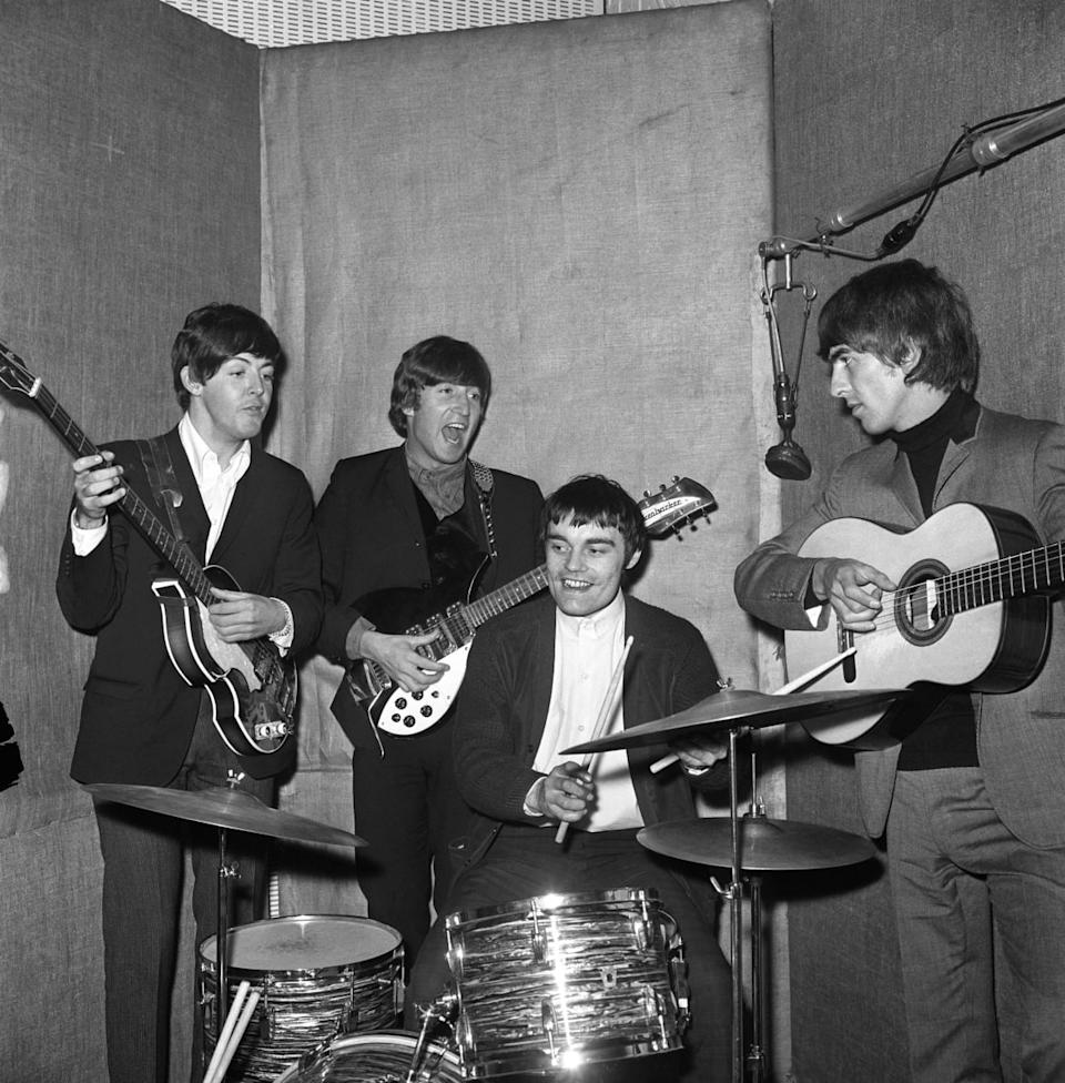 """<div class=""""inline-image__caption""""><p>Drummer Jimmie Nicol, 24, who is filling in for Ringo Starr after he collapsed during a photographic session at Barnes Studio.</p></div> <div class=""""inline-image__credit"""">PA Images/Getty</div>"""