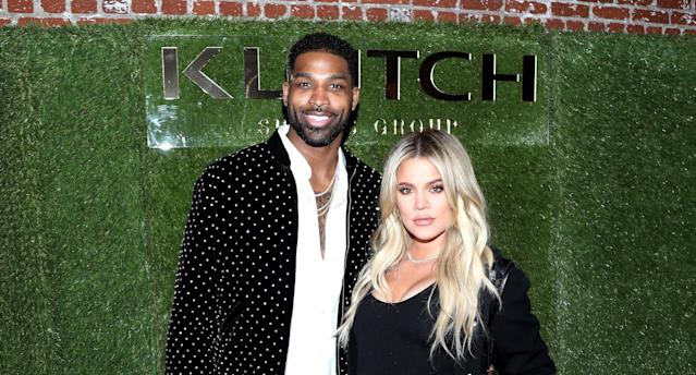 Tristan Thompson and Khloé Kardashian attend an event in February. (Photo: Jerritt Clark/Getty Images for Klutch Sports Group)