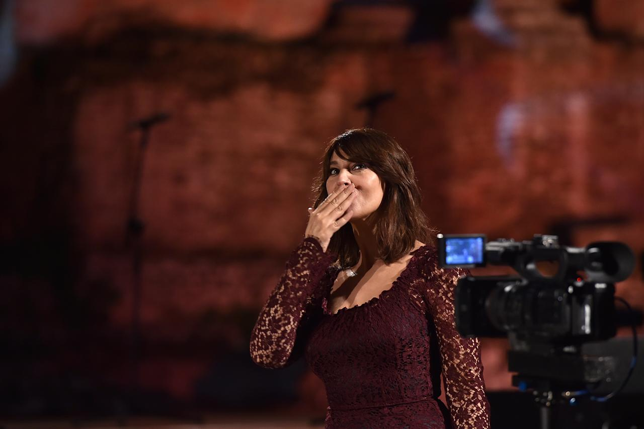 TAORMINA, ITALY - JULY 18:  Monica Bellucci attends the closing night of the Taormina Film Festival on July 18, 2020 in Taormina, Italy. (Photo by Tullio Puglia/Getty Images)