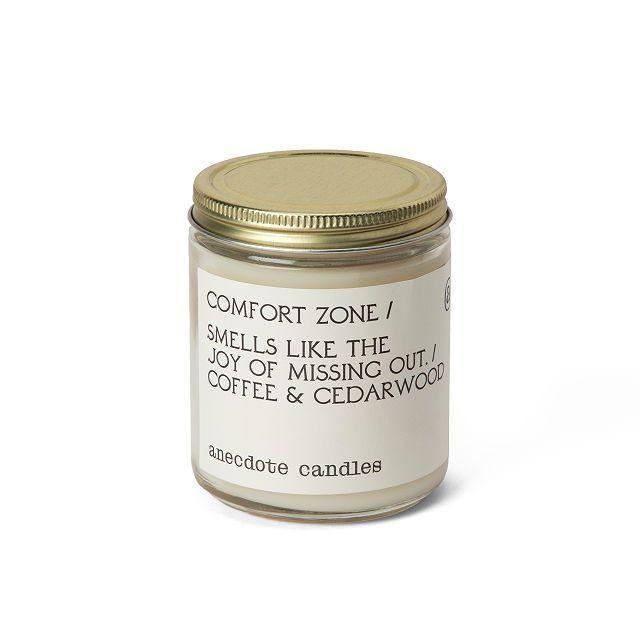 """<p><strong>Anecdote Candles</strong></p><p>uncommongoods.com</p><p><strong>$24.00</strong></p><p><a href=""""https://go.redirectingat.com?id=74968X1596630&url=https%3A%2F%2Fwww.uncommongoods.com%2Fproduct%2Fanecdote-candles%3F_br_psugg_q%3Danecdote%252Bcandles%23508810000002&sref=https%3A%2F%2Fwww.oprahdaily.com%2Flife%2Fg23584712%2Fbest-scented-candles%2F"""" rel=""""nofollow noopener"""" target=""""_blank"""" data-ylk=""""slk:SHOP NOW"""" class=""""link rapid-noclick-resp"""">SHOP NOW</a></p><p>JOMO is the new FOMO. Some of us may have realized we relish in staying at home and this cheekily-named, coffee and cedar-scented candle embodies that cozy comfort. If you're shopping for a gift, <a href=""""https://go.redirectingat.com?id=74968X1596630&url=https%3A%2F%2Fanecdotecandles.com%2F&sref=https%3A%2F%2Fwww.oprahdaily.com%2Flife%2Fg23584712%2Fbest-scented-candles%2F"""" rel=""""nofollow noopener"""" target=""""_blank"""" data-ylk=""""slk:Anectdote Candles"""" class=""""link rapid-noclick-resp"""">Anectdote Candles</a> come in a wide array of other cleverly labeled jars like """"<a href=""""https://go.redirectingat.com?id=74968X1596630&url=https%3A%2F%2Fanecdotecandles.com%2Fcollections%2Fcandles-accessories%2Fproducts%2Fcoffee-table-book&sref=https%3A%2F%2Fwww.oprahdaily.com%2Flife%2Fg23584712%2Fbest-scented-candles%2F"""" rel=""""nofollow noopener"""" target=""""_blank"""" data-ylk=""""slk:Coffee Table Book"""" class=""""link rapid-noclick-resp"""">Coffee Table Book</a>,"""" and """"<a href=""""https://go.redirectingat.com?id=74968X1596630&url=https%3A%2F%2Fanecdotecandles.com%2Fcollections%2Fcandles-accessories%2Fproducts%2Fbottomless-mimosas&sref=https%3A%2F%2Fwww.oprahdaily.com%2Flife%2Fg23584712%2Fbest-scented-candles%2F"""" rel=""""nofollow noopener"""" target=""""_blank"""" data-ylk=""""slk:Bottomless Mimosas"""" class=""""link rapid-noclick-resp"""">Bottomless Mimosas</a>.""""</p>"""
