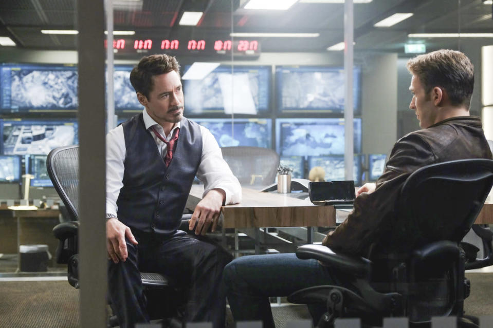 <p>The Avengers stalwarts find themselves on opposite sides after a mission goes awry and claims civilian lives. Tony believes the heroes should be kept in check; Steve prefers they remain independent. <i>(Photo: Disney)</i></p>