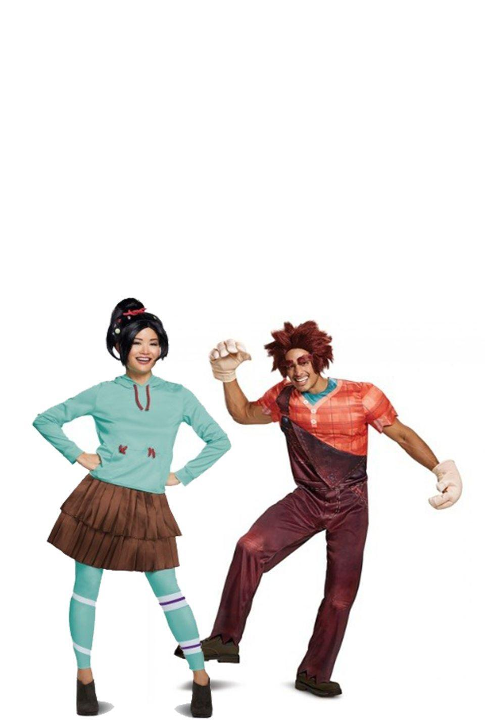 """<p>Level up! The avid movie-goers and gamers out there will be excited to see this fairly new costume hit the racks. Dress up as Ralph and Vanellope and see what kind of adventures you get into on Halloween night.</p><p><a class=""""link rapid-noclick-resp"""" href=""""https://go.redirectingat.com?id=74968X1596630&url=https%3A%2F%2Fwww.halloweencostumes.com%2Fwreck-it-ralph-2-adult-ralph-deluxe-costume.html&sref=https%3A%2F%2Fwww.womansday.com%2Fstyle%2Fg28691602%2Fdisney-couples-costumes%2F"""" rel=""""nofollow noopener"""" target=""""_blank"""" data-ylk=""""slk:SHOP RALPH COSTUME"""">SHOP RALPH COSTUME</a></p><p><a class=""""link rapid-noclick-resp"""" href=""""https://go.redirectingat.com?id=74968X1596630&url=https%3A%2F%2Fwww.halloweencostumes.com%2Fwreck-it-ralph-2-deluxe-vanellope-womens-costume.html&sref=https%3A%2F%2Fwww.womansday.com%2Fstyle%2Fg28691602%2Fdisney-couples-costumes%2F"""" rel=""""nofollow noopener"""" target=""""_blank"""" data-ylk=""""slk:SHOPE VANELLOPE COSTUME"""">SHOPE VANELLOPE COSTUME</a> </p>"""