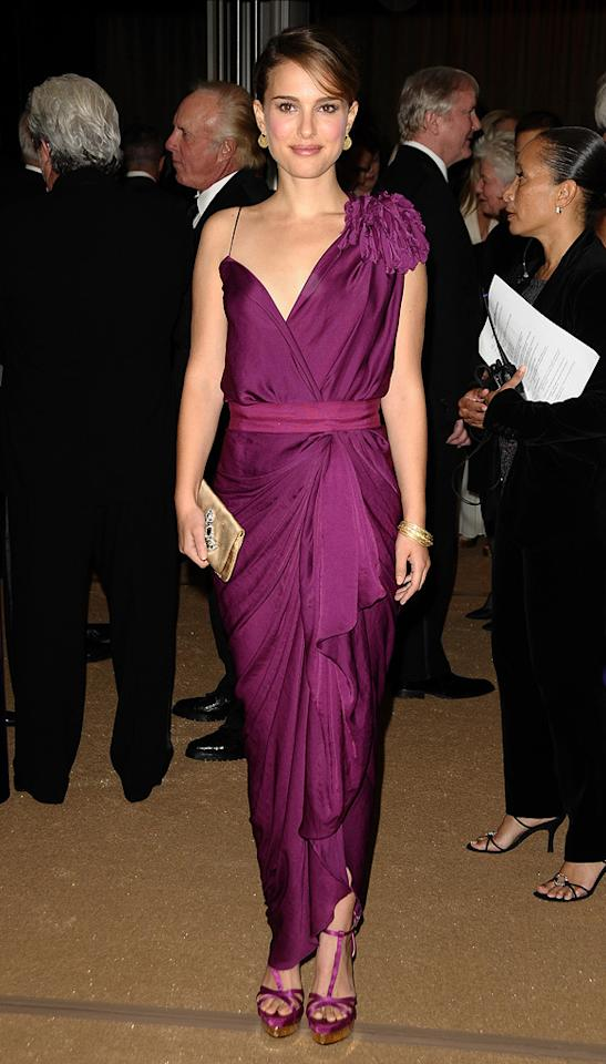 """<a href=""""http://movies.yahoo.com/movie/contributor/1800020300"""">Natalie Portman</a> attends the 2nd Annual AMPAS Governors Awards in Los Angeles on November 13, 2010."""
