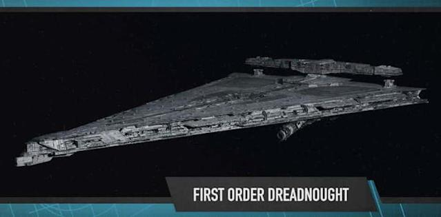 First Order Dreadnought from <i>The Last Jedi</i> (Photo: Lucasfilm)