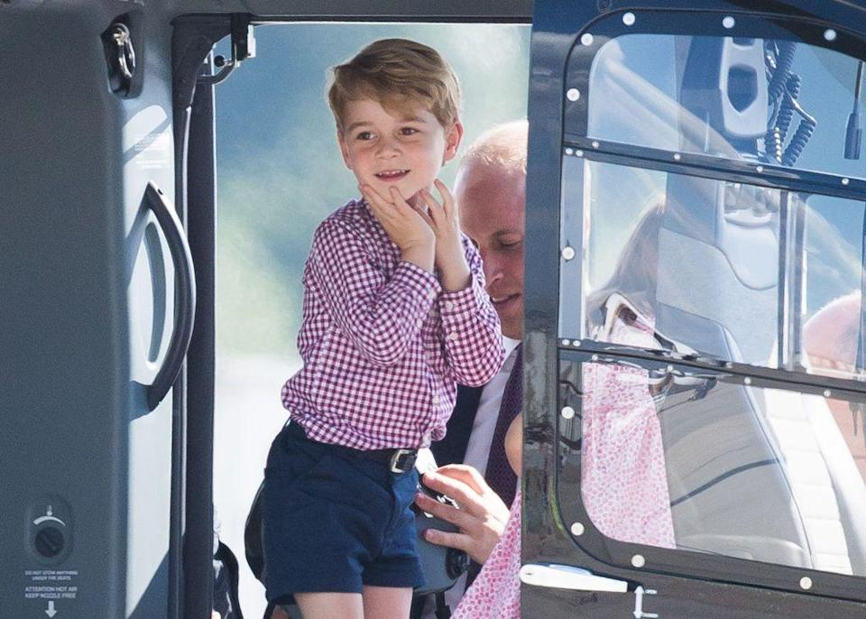 <p>The young royal loves helicopters apparently, so was incredibly excited to have the chance to inspect some at Hamburg airport in July 2017, during his parents' official visit to Germany and Poland.</p>
