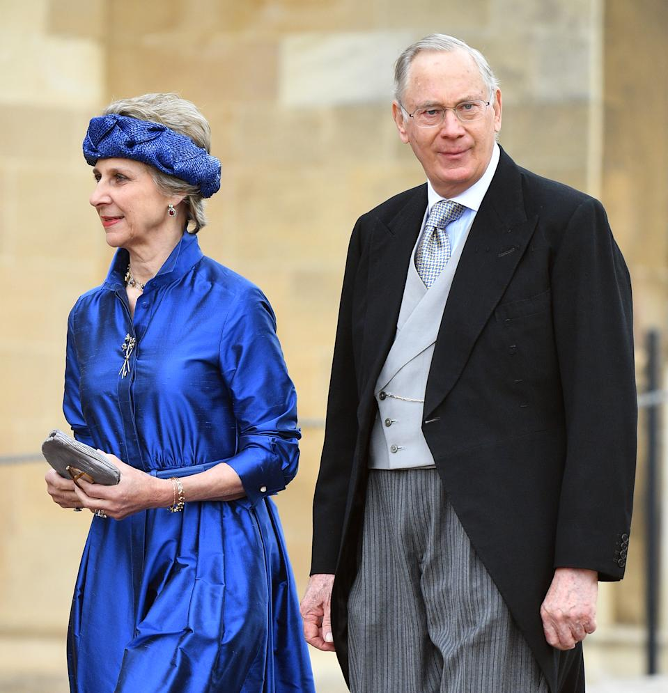 WINDSOR, UNITED KINGDOM - MAY 18: (EMBARGOED FOR PUBLICATION IN UK NEWSPAPERS UNTIL 24 HOURS AFTER CREATE DATE AND TIME) Birgitte, Duchess of Gloucester and Prince Richard, Duke of Gloucester attend the wedding of Lady Gabriella Windsor and Thomas Kingston at St George's Chapel on May 18, 2019 in Windsor, England. (Photo by Pool/Max Mumby/Getty Images)
