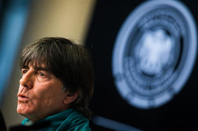 Germany head coach Joachim Loew speaks during a press conference at the Olympic stadium in Berlin on November 9, 2017, ahead of friendly matches away to England and France (AFP Photo/Odd ANDERSEN)