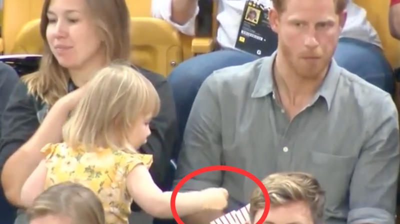 Adorable Toddler 'Steals' Prince Harry's Popcorn And All Our Hearts