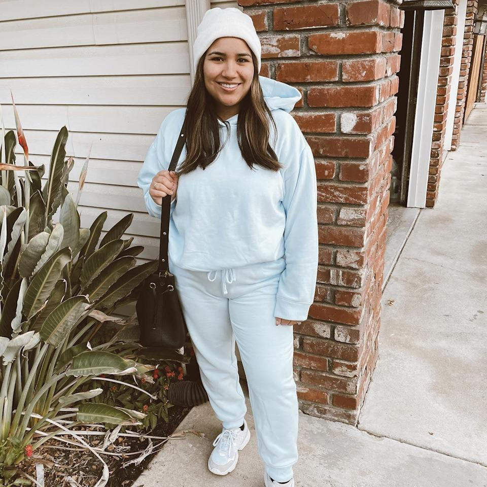 <p>The <span>A New Day High-Rise Ankle Jogger Pants</span> ($20) and <span>Hooded All Day Fleece Sweatshirt</span> ($20) come in so many colors, but we love the baby blue.</p>