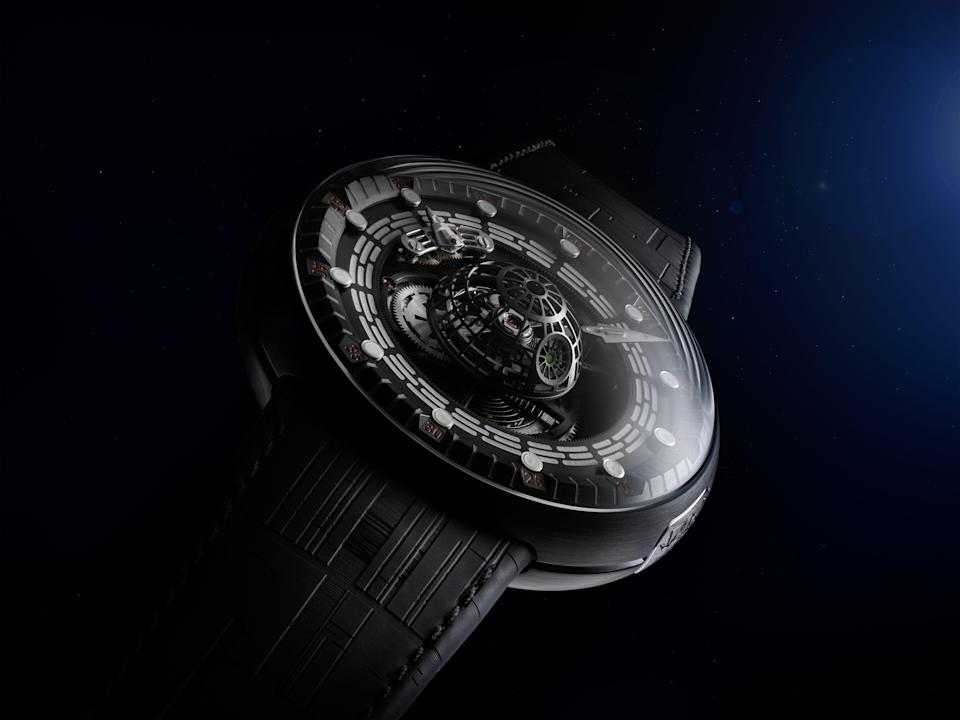 "A limited-edition Swiss-made ""Star Wars"" Tourbillon watch inspired by the Death Star will set you back $150,000."