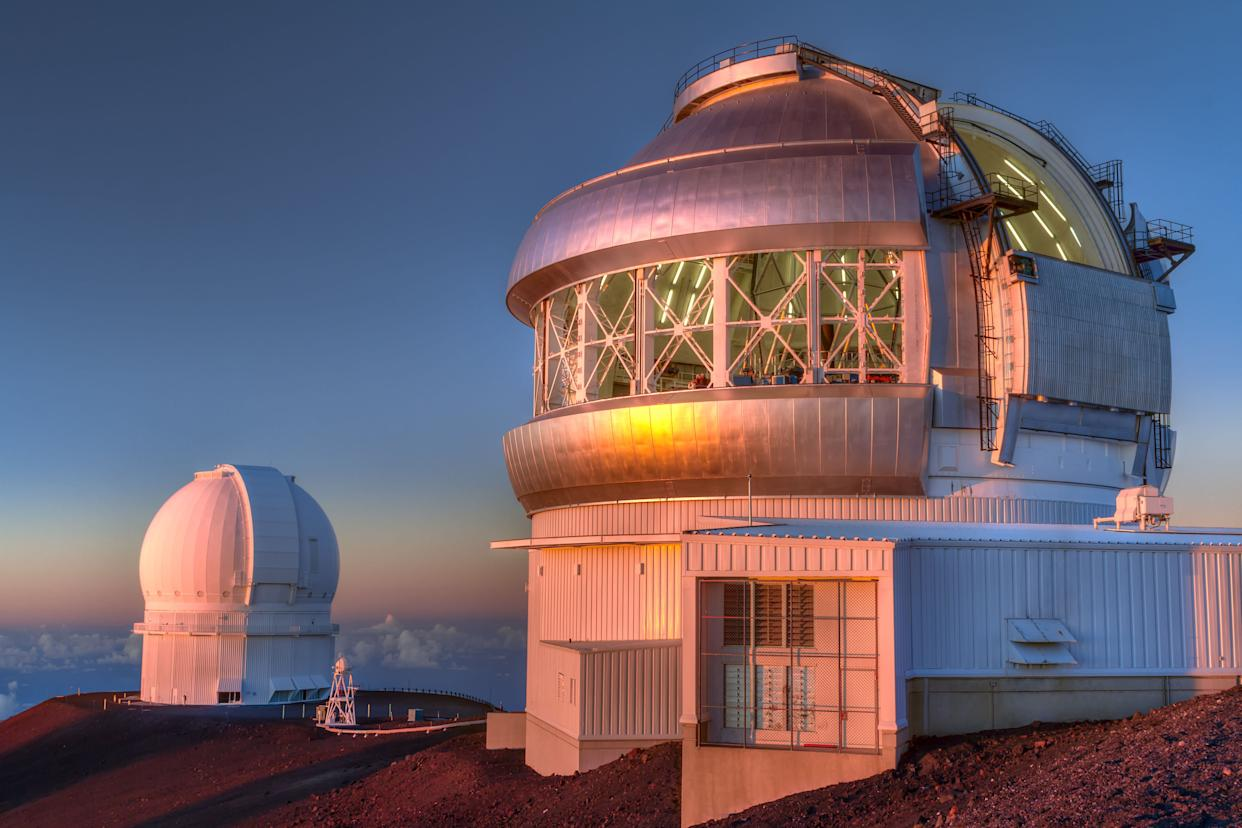 The Gemini North telescope, right, in Hawaii. (Photo: EduardMoldoveanuPhotography via Getty Images)