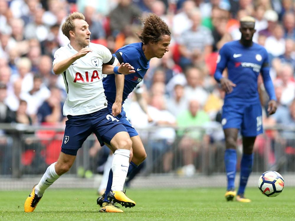 David Luiz and Christian Eriksen battled all afternoon in midfield (Getty 2017)
