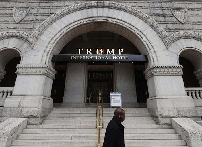 The Trump International Hotel in Washington, DC, has become a hotbed for conservative politicos during the presidency of Donald Trump. (Getty Images)