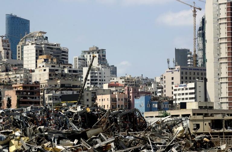 Eiffel Tower of debris cleared from Beirut port