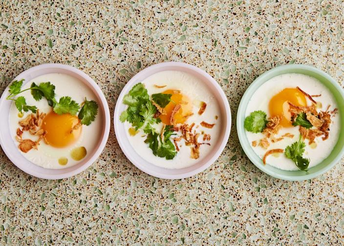 """<a href=""""https://www.bonappetit.com/recipe/baked-eggs-with-coconut-milk-and-cilantro?mbid=synd_yahoo_rss"""" rel=""""nofollow noopener"""" target=""""_blank"""" data-ylk=""""slk:See recipe."""" class=""""link rapid-noclick-resp"""">See recipe.</a>"""