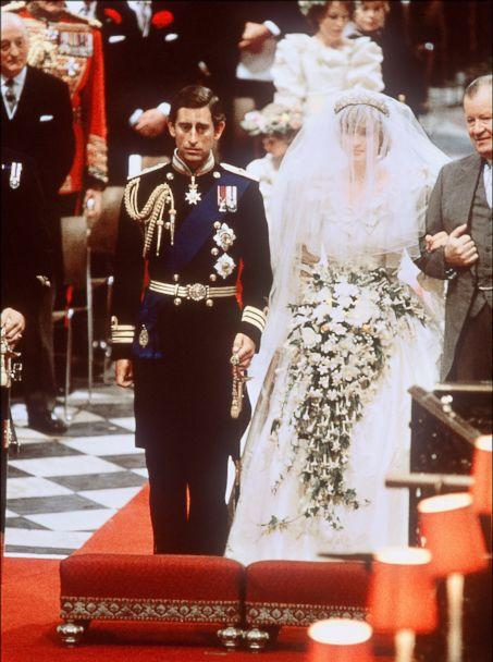 PHOTO: Picture of Lady Diana, Princess of Wales with Prince Charles of Wales at their wedding at St Paul Cathedral in London, in this file photo dated July 29, 1981. (AFP/Getty Images, FILE)