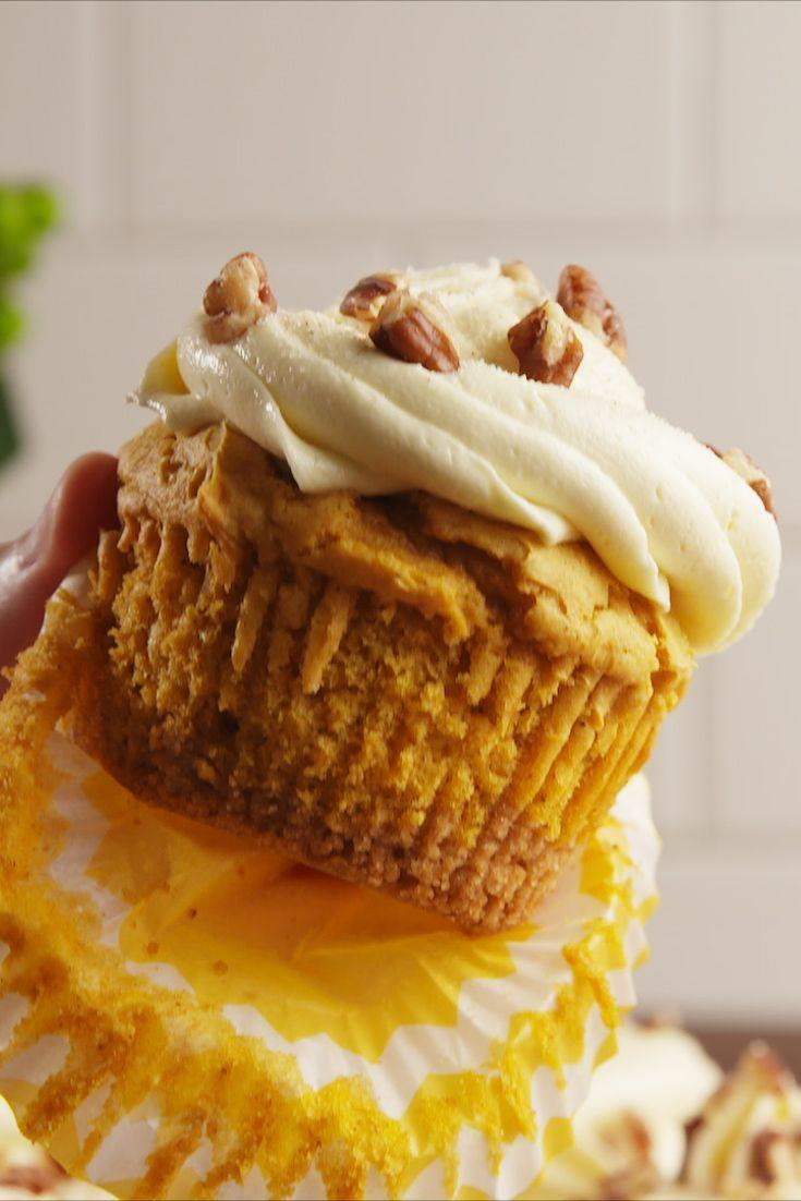 """<p>As sweet as sweet potato pie.</p><p>Get the recipe from <a href=""""https://www.delish.com/cooking/recipe-ideas/recipes/a55096/sweet-potato-pie-cupcakes-recipes/"""" rel=""""nofollow noopener"""" target=""""_blank"""" data-ylk=""""slk:Delish"""" class=""""link rapid-noclick-resp"""">Delish</a>. </p>"""