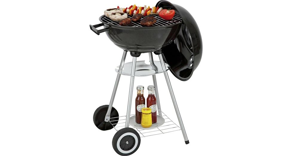 Round 43cm Kettle BBQ 41x41cm Cooking Area with 2 Wheels
