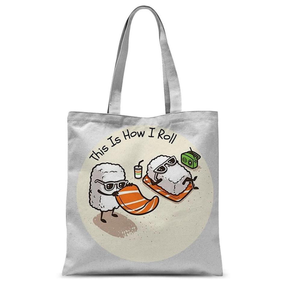 <p>This <span>Sushi Tote Bag</span> ($17) can hold their chopsticks, seaweed, and everything in between.</p>