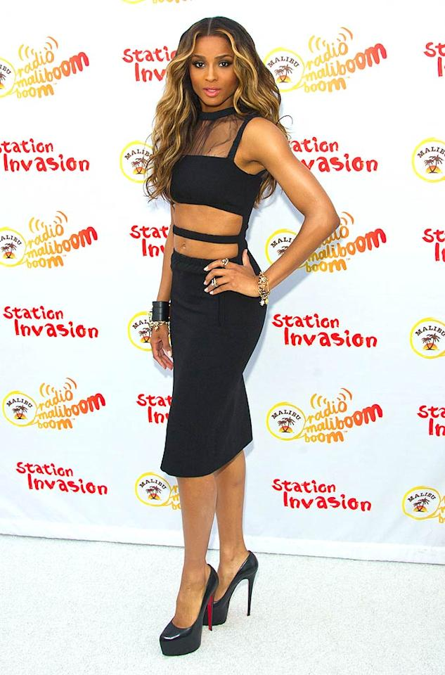 "Ciara may have abs of steel, but that certainly doesn't mean she has a sophisticated sense of style. Michael Stewart/<a href=""http://www.wireimage.com"" target=""new"">WireImage.com</a> - August 4, 2011"