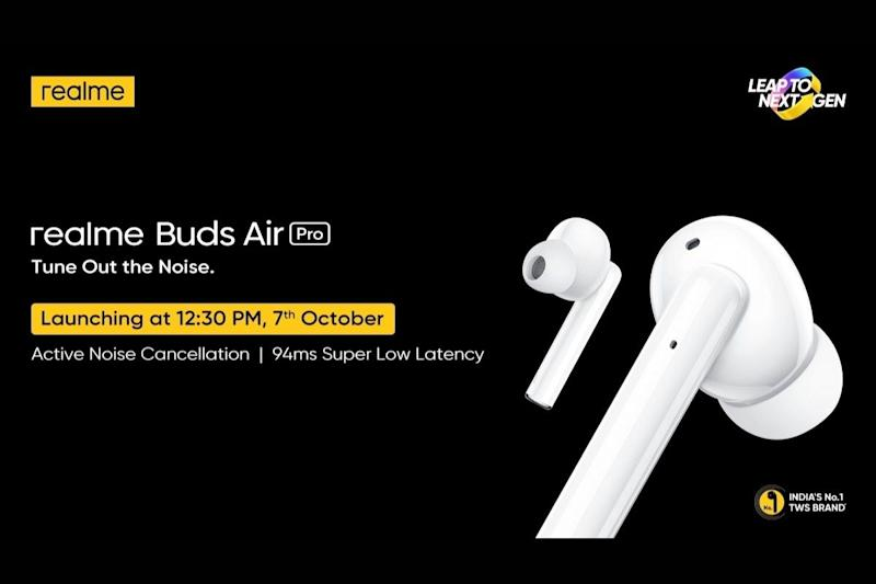 Realme Buds Air Pro TWS Earphones India Launch on October 7 Alongside New Neckband Earphones
