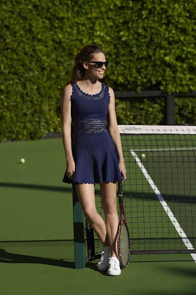 She loves to play tennis—and clothes you can wear *after* tennis.
