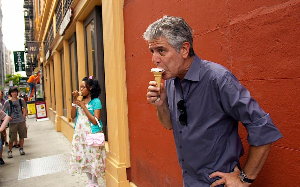 Anthony Bourdain in the documentary about his life, Roadrunner - Focus Features