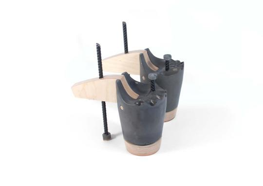 "<p>During her studies in fashion footwear at the London College of Fashion, Plantos presented her graduate collection, titled  <a href=""http://www.sandraplantos.com/#!presence/g9qgc"">Presence</a>, which features shoes made of concrete. Your heel just sits right on top of the unpadded bolt, so don't try to stand up, and definitely don't try to walk. <i>(Photo: <a href=""http://www.sandraplantos.com/"">Sandra Plantos</a>)</i></p>"