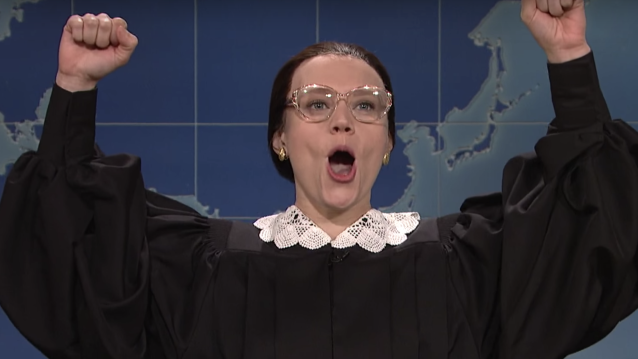 Kate McKinnon as Ruth Bader Ginsburg on <i>Saturday Night Live.</i> (Photo: NBC)
