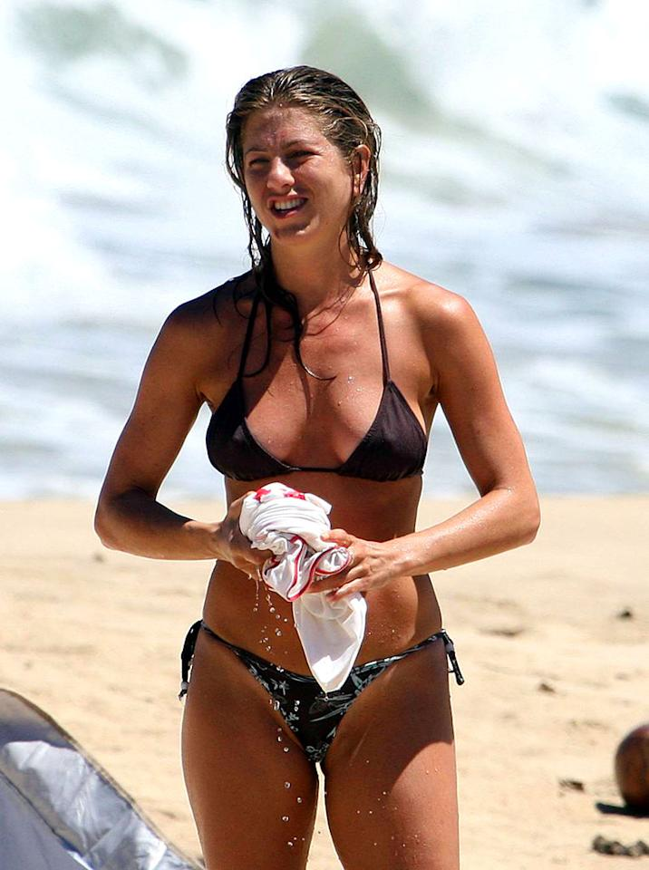 "Meanwhile, Brad's ex Jennifer Aniston enjoys a vacation in Hawaii. <a href=""http://www.x17online.com"" target=""new"">X17 Online</a> - August 23, 2007"