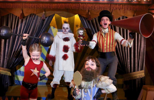 """<p>""""Hurry, hurry! Step right up and behold the Burtka-Harris Halloween Carnival of Curiosities!"""" Harris teased with this snapshot. His adorable family is known for choosing a theme for their costumes and killing it. (Photo: Instagram/Neil Patrick Harris) </p>"""