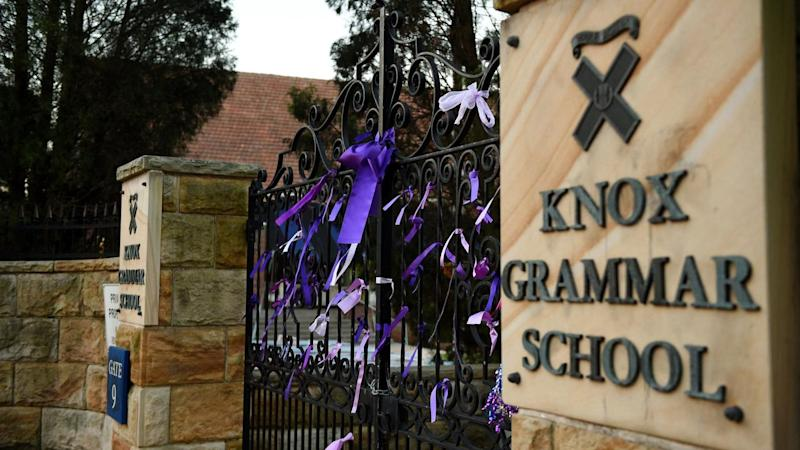 A Knox Grammar teacher has been charged with possessing child abuse material and prohibited drugs