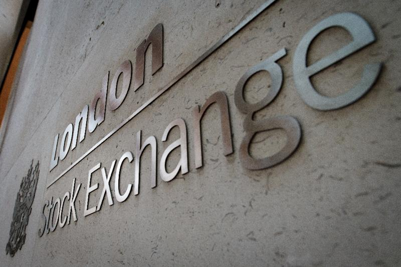 Shares in market operators London Stock Exchange and Deutsche Boerse both fell after the LSE said it would not meet an EU antitrust demand to get clearance for a merger between both companies (AFP Photo/LEON NEAL)
