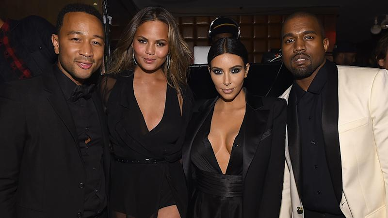 Kanye West and John Legend 'Lead With Love' at Chrissy Teigen's Baby Shower After Political Disagreement