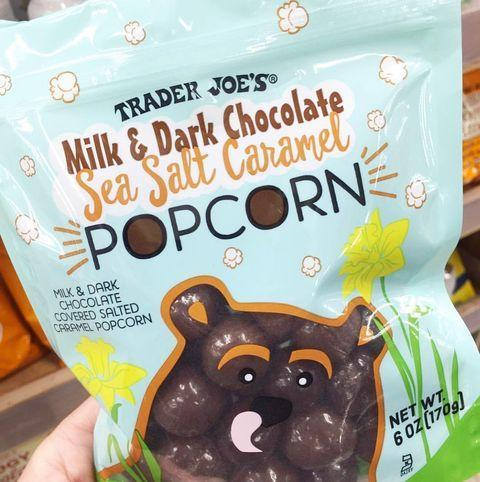 """<p>We know what snack we're bringing to the movies this weekend ... Trader Joe's new Milk & Dark Chocolate Sea Salt Caramel Popcorn. It sounds like the salty-sweet combo of our DREAMS. Plus, the packaging is SO adorable and perfect for spring.</p><p><a href=""""https://www.instagram.com/p/BvUOrlGgkMn/"""" rel=""""nofollow noopener"""" target=""""_blank"""" data-ylk=""""slk:See the original post on Instagram"""" class=""""link rapid-noclick-resp"""">See the original post on Instagram</a></p>"""