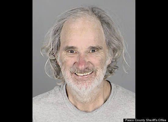 This suspect likely won't forget his 64th birthday -- and neither will the elementary school students who saw a man naked from the waist down shaking his hips and genitals. Jack Snyder is accused of flashing a school bus in Port Richey, Fla., as students headed home from classes.