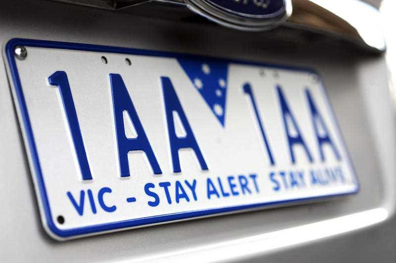 Pictured is an example of a Victorian number plate.