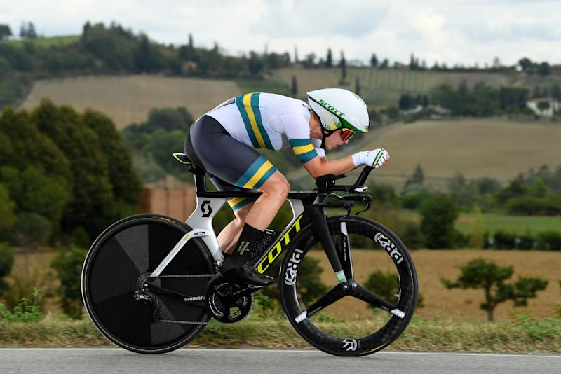 IMOLA ITALY SEPTEMBER 24 Grace Brown of Australia during the 93rd UCI Road World Championships 2020 Women Elite Individual Time Trial a 317km stage from Imola to Imola ITT ImolaEr2020 Imola2020 on September 24 2020 in Imola Italy Photo by Tim de WaeleGetty Images