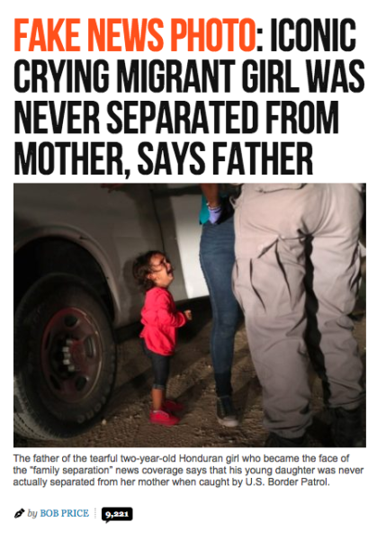 A photo of a sobbing 2-year-old Honduran immigrant girl that shocked the world
