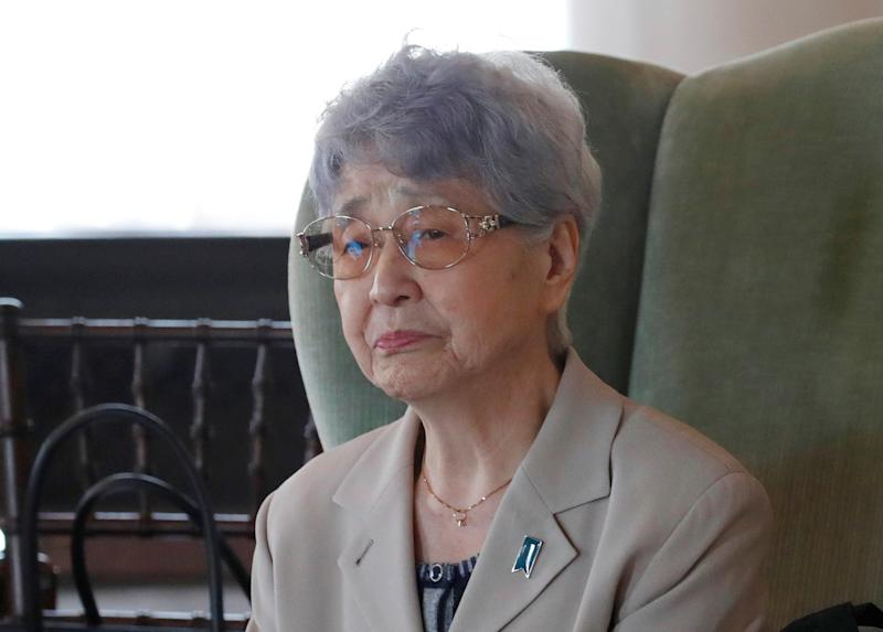 Sakie Yokota has become the most prominent advocate for the return ofthe abductees, writing a memoir about her daughter's kidnapping and often appearing on Japanese television. (Kim Kyung Hoon / Reuters)