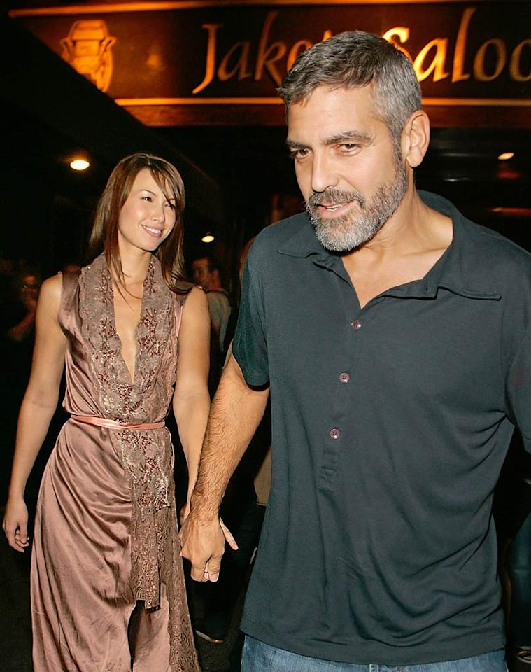 """Will Sarah Larson, a former Las Vegas Go-Go dancer and """"Fear Factor"""" contestant, put an end to George Clooney's bachelor days? The couple have been an item since the summer. Jackson Lee/<a href=""""http://www.splashnewsonline.com/"""" target=""""new"""">Splash News</a> - September 20, 2007"""