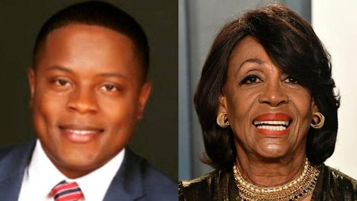 California Republican Joe Collins (left) challenged long-time Congressman Maxine Waters (right) to win a seat and later accused her of defamation and slander in a lawsuit, but over $ 53,000. Ordered to pay legal costs. (Photo by Fraser Harrison / Getty Images)