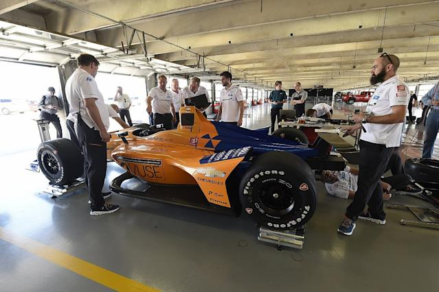 Video: Alonso's Texas Indycar test
