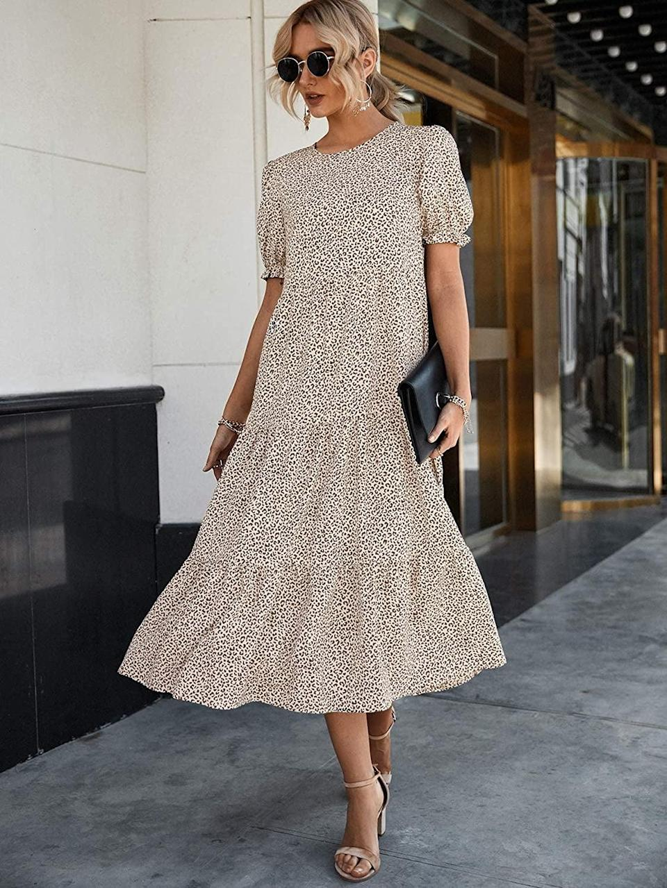 <p>This <span>PrettyGarden Summer Casual Boho Dress</span> ($43) looks easy to move around in, so you'll want to wear it all day. It's perfect for brunch parties or city afternoons.</p>