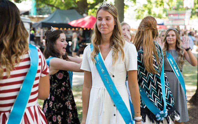The annual Iowa State Fairs Queens contest takes place at the Anne and Bill Riley Talent Stage. Candidates from across the state compete in front of a panel of judges. This year's winner, Hannah Koellner of Mahaska County, won a total of $8,000 in scholarships. | Jason Bergman
