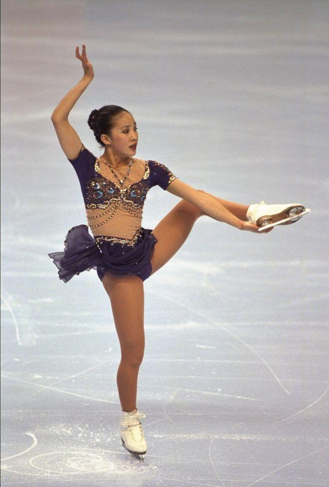 UNITED STATES - JANUARY 20: Figure Skating: USA National Championships, Michelle Kwan in action, San Jose, CA 1/20/1996 (Photo by Brad Mangin/Sports Illustrated/Getty Images) (SetNumber: X49984)