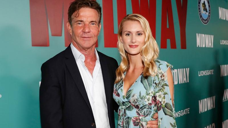 Actor Dennis Quaid, 65, is engaged to his 26-year-old girlfriend Laura Savoie. Photo: Getty