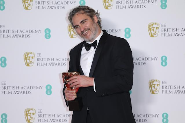 Joaquin Phoenix at the EE British Academy Film Awards 2020 (Credit: Lia Toby/Getty Images)
