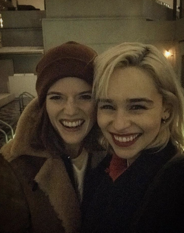 """<p>""""Dear New York, I am about to leave this very special human bean in your fair city,"""" the <em>Game of Thrones</em> actress posted about her former co-star (and Kit Harington's real-life love) Rose Leslie. """"Please take care of her for me as I'm coming back to get her — and the rest of that champagne we left to boot!"""" (Photo: <a href=""""https://www.instagram.com/p/BfWmgH2lfSw/?taken-by=emilia_clarke"""" rel=""""nofollow noopener"""" target=""""_blank"""" data-ylk=""""slk:Emilia Clarke via Instagram"""" class=""""link rapid-noclick-resp"""">Emilia Clarke via Instagram</a>) </p>"""