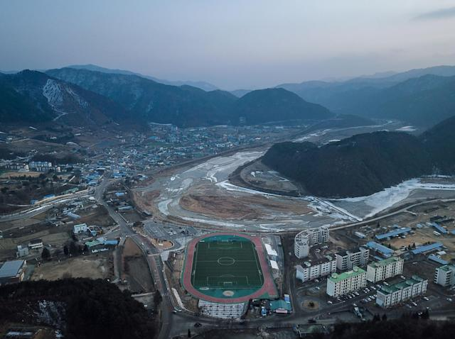 Haean-Myeon, a small military town on the edge of the demilitarised zone: AFP/Getty Images